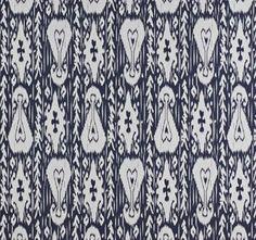 Lula Fabric's Kashgar in Indigo  Source: http://www.lulafabrics.co.za/SilkRoad_collection.html