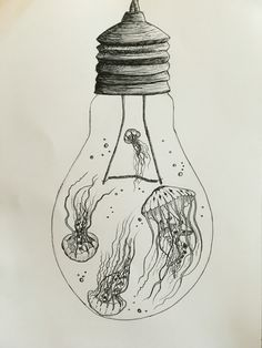 bulb pencil drawing drawings meaningful easy corona sketch painting uploaded user marker