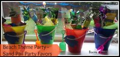 party favors gift baskets sand pail gifts