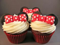 #Cupcakes #MiniMouse #Mouse #Delicious