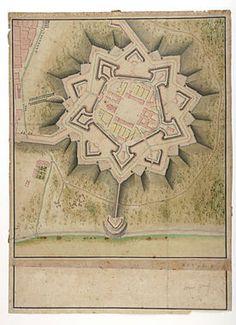 Planta de la Ciutadella al segle XVIII. La Ciutadella de Barcelona fou una fortalesa militar construïda després de la guerra de Successió amb la intenció de reprimir els barcelonins. Fou enderrocada a mitjans del segle XIX i en el seu solar s'hi construí el Parc de la Ciutadella.