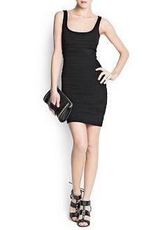 MANGO - ОДЕЖДА - Облегающее платье из трикотажа