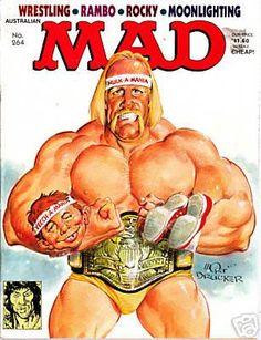 Comic Book Covers, Comic Books, Comic Art, Mad Magazine, Magazine Covers, Life Magazine, Mad Tv, Mad World, Hulk Hogan