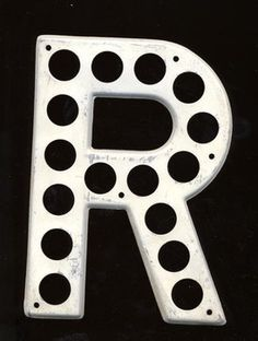 Vintage Wall Metal Highway Letter By Salvage Nation - eclectic - nursery decor - Etsy