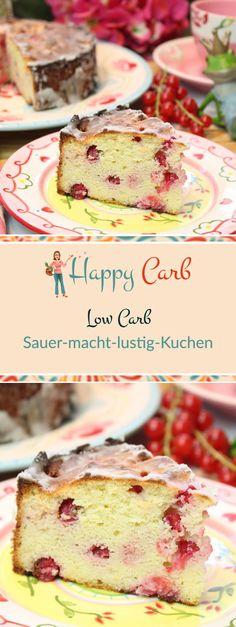 Zitrone und Johannisbeere geben die leckere Säure. Low Carb Rezepte von Happy Carb. https://happycarb.de/rezepte/backen/sauer-macht-lustig-kuchen/