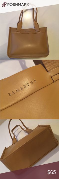 """Lamarthe Italian Handbag Exquisite all leather handbag by Italian designer, Lamarthe. Smooth grain leather finish. Magnetic snap closure. Fully lined. Measures 10.5"""" wide, 8"""" High, 4.5"""" base. 🚫No trades🚫  General Disclaimer: Unless otherwise noted, everything in my closet is gently worn. Please examine pictures carefully before making offers. LAMARTHE Bags Satchels"""