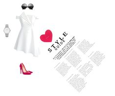"""""""Untitled #31"""" by sara-balut on Polyvore featuring Chicwish, Christian Louboutin, Kate Spade and CLUSE"""