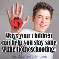 5 ways your children can help you stay sane while homeschooling