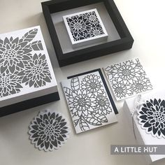 Inspired by Daisies Gift Set - SVG files for cutting a gift box, wall art and card set.