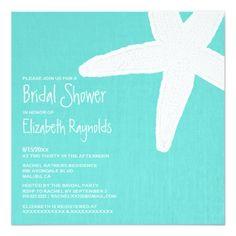 Starfish Beach Bridal Shower Invitations