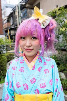 Harajuku Fashion Walk #11 Street Snaps // butterfly headpiece
