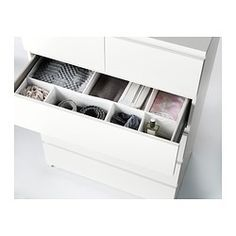 MALM Chest of 6 drawers, white - 80x123 cm - IKEA