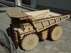 Picture of Laser Cut Mining Dump Truck Toy