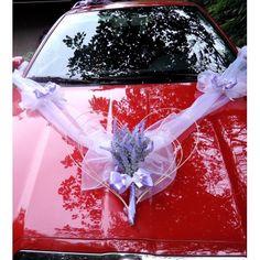 "Výzdoba svatebního auta- ""Kytička levandule"""