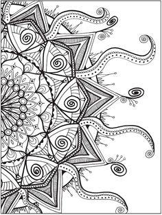 dover zendala coloring page 4 - Color Book Page
