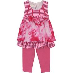 Isobella & Chloe Baby Girls Raspberry Cherry Blossom Two Piece Pant Set 3M-24M, Girl's, Size: 6 Months, Red