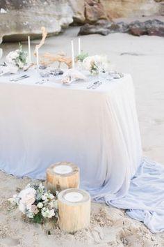 Pastel Beach Wedding Inspiration   Photo by Day One Wedding Photo http://dayoneweddings.com.au/