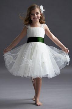 Seahorse 48298 Flower Girl Dress   Weddington Way but with a navy sash
