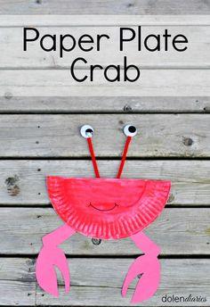 Cute little paper plate crab!