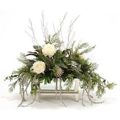 holiday decorations chrsitmas holiday floral arrangements christmas flower arrangements holiday centerpieces christmas flowers - White Christmas Flower Decorations