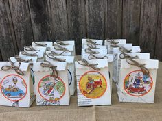 20 Richard Scarry Favor Bags/Story Book Theme Party/Children's Books Favors by VOCrafted on Etsy https://www.etsy.com/listing/526579366/20-richard-scarry-favor-bagsstory-book