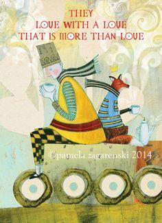 154 CARD Front and back illustrated by PamelaZagarenski Sketch Inspiration, The Little Prince, Children's Book Illustration, Beautiful Words, Art Images, Childrens Books, Doodles, Wisdom, Inspirational