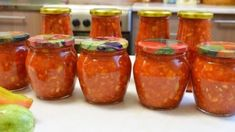 Home Canning, Chutney, Bon Appetit, Pickles, Zucchini, Food And Drink, Cooking Recipes, Jar, Homemade