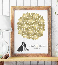 Gold Wedding Guest Book Alternative for Wedding Decor, Paper or Canvas Wedding Sign in Board for Gold Wedding by MissDesignBerryInc on Etsy https://www.etsy.com/listing/109865061/gold-wedding-guest-book-alternative-for