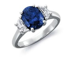 Sapphire for your center stone?! Platinum and sapphire engagement ring #bluenile