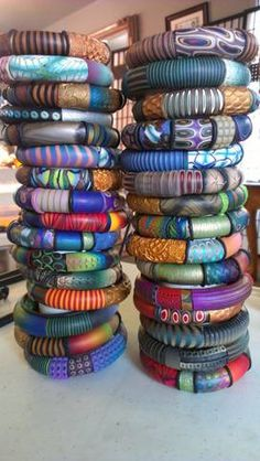 Stack o' bangles! Maryanne Loveless.