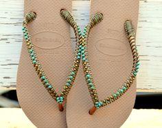Boho Style Flip Flops Bohemian Chic Foot Jewelry
