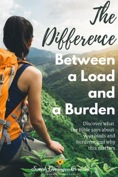 Are you carrying a load or a burden? Learn what the Bible has to say, and gain clarity and comfort. #burdens #christianliving #encouragement #spiritualgrowth Christian Living, Christian Faith, Christian Encouragement, Spiritual Growth, Bible Verses, Inspirational Quotes, Sayings, Christian Life, Life Coach Quotes