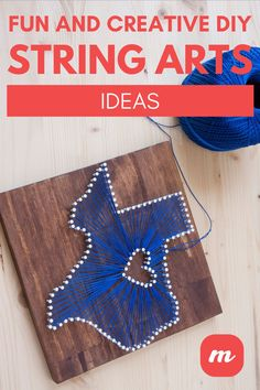 Look no further for a fun DIY project. In this piece, we show forty-five creative ideas for string art. Creative DIY String Art ideas that you see here run from beginner to advanced. Many use templates, which makes the placement of nails easy. Others are complicated and require a bit more than a beginner's outlook. In there you should find projects that are perfect for kids and pieces you'd be proud to hang on your wall. #stringart #easyDIYcrafts #stringartpatterns #easyDIYcrafts #homedecorideas Easy Diy Crafts, Diy Home Crafts, Fun Diy, String Art Patterns, Cool Diy Projects, Creative Ideas, Art Ideas, Cow, Art Pieces