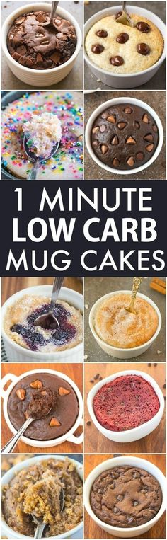 Low Carb Healthy 1 Minute Mug Cakes, Brownies and Muffins (V, GF, Paleo)- Delicious, single-serve desserts and snacks which take less than a minute! Low carb, sugar free and more with OVEN options too! vegan, gluten free, paleo recipe- #mugcake #healthy # http://eatdojo.com/easy-healthy-dessert-recipes-family-birthday/