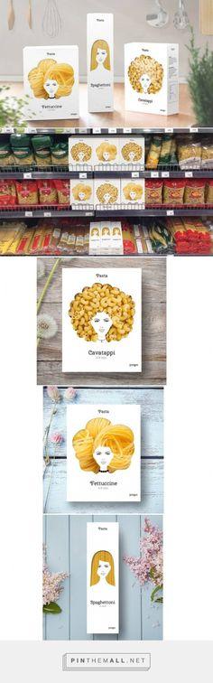 Designer cria pacotes de macarrão inspirado em tipos de cabelos