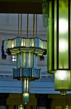 Art Deco Lamp in Brotherton Library, University Of Leeds, Leeds, UK
