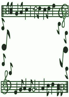 Music Border Clipart Black And White   Google Search