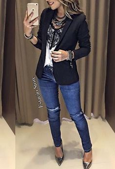 #jeans #blazers #social #casual