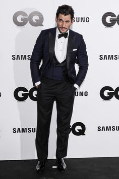 David Gandy Looks Very Handsome At The 2014 GQ Men of the Year Awards - Socialite Life
