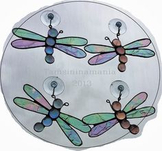little stained glass dragonflies