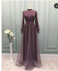 Dress Muslim Modern, Kebaya Modern Dress, Muslim Dress, Stylish Dresses, Simple Dresses, Fashion Dresses, Formal Dresses, 90s Fashion, Hijab Evening Dress