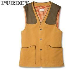 Purdey Men's Brushed Cotton Shooting Vest  www.kevinscatalog.com