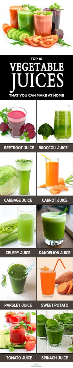 Vegetable juices are the healthiest choices as they transform nutrients quickly than eating them whole. Get to know the healthy vegetable juices you can prefer. Broccoli Juice, Cabbage Juice, Spinach Juice, Celery Juice, Tomato Juice, Healthy Vegetables, Healthy Recipes For Weight Loss, Weight Loss Meal Plan, Beetroot