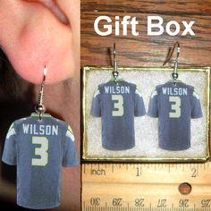 Russell Wilson 3 Seattle Seahawks Football Jersey by CraftGlide, $7.99
