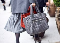 doubling bags.  Chanel and Hermes.