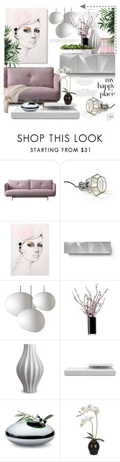 """Feminine Happy Place"" by olga1402 on Polyvore featuring interior, interiors, interior design, home, home decor, interior decorating, Design House Stockholm, Linfa Design, LSA International and Jonathan Adler"