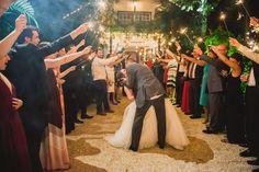 Sparkler Exit   Miami Wedding Photographer   Historic Walton House Wedding   Moriah Cuda Photography