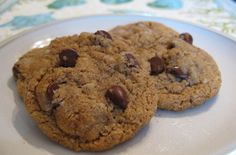 Almond butter chocolate chip cookies...... :)