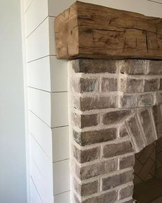 Good No Cost natural Brick Fireplace Style It often compensates so that you can . Good No Cost natural Brick Fireplace Style It often compensates so that you can by pass the actual redesign! Wood Mantle Fireplace, Farmhouse Fireplace Mantels, Wood Mantels, Rustic Fireplaces, Home Fireplace, Fireplace Remodel, Living Room With Fireplace, Fireplace Design, Fireplace Ideas