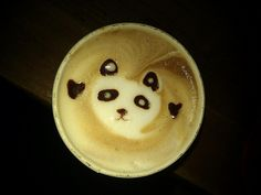Panda Cappuchino art - Tribal Grounds need to step it up to this haha.